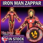 "MENS IRON MAN ZAPPER MORPHSUIT SUPERHERO FANCY DRESS COSTUME X LARGE 5' 10"" TO 6' 3"" HEIGHT"